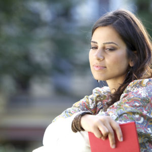 Single Woman Contemplating