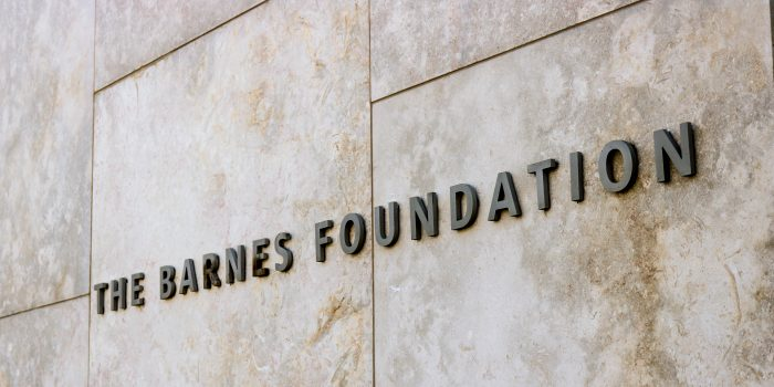 The Barnes Foundation Lettering On Granite Wall